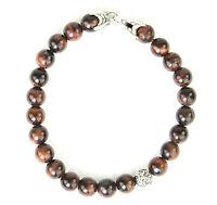 DAVID YURMAN Men's Red Tiger's Eye Spiritual Bead Bracelet $495 NEW