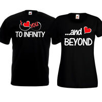 I Love You To Infinity And Beyond T Shirts Couples Tops His Hers Christmas Gift