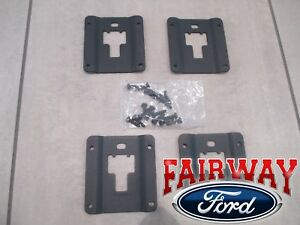 15 thru 21 F-150 OEM Ford Tie Down Bed Cleat Standard Interface Plate 4-Pc Kit