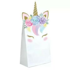 UNICORN BABY PAPER FAVOR BAGS (8) ~ Shower Party Supplies Pastel Treat Loot Cute