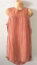 Melrose and Market Lace Yoke Tunic Size S Color CORAL MUTED