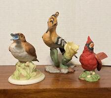 3 Boehm porcelain bird figurines Cardinal Baby Wood Thrush Fledgling Hoopoe Wow