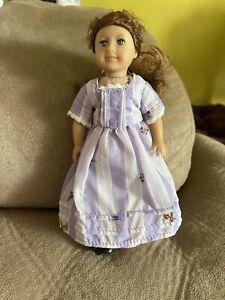 """Retired America Girl Doll Felicity 6"""" Doll Wht/Purple dress"""