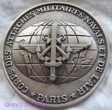 MED7041 - MEDAILLE CORPS DES ATTACHES MILITAIRES NAVALS & DE L'AIR 1990