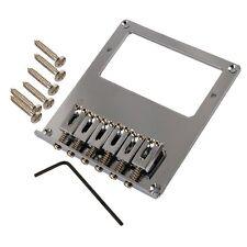 Telecaster-Style Chrome Electric Guitar Humbucker Bridge Plate/Saddle