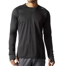 Adidas Kinder Sport Shirt langarm Funktionsshirt Laufshirt Longsleeve schwarz