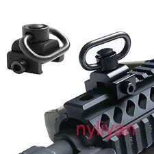 Quick Detach Push Button Attachment Sling Swivel 20mm Picatinny Rail QD Mount