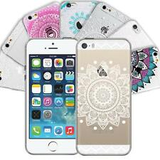 Apple iPhone 5C Handy Schutz Hülle Case TPU Silikon Cover Tasche Mandala Etui