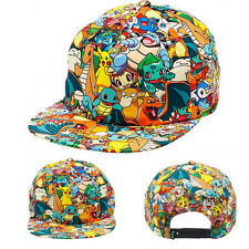 Nintendo Pokemon All Over Sublimated Print Adjustable Hat Cartoon Game Cap