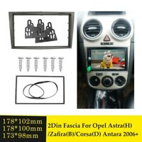2 Din Car Radio Fascia Installation Trim Kit for Opel Vectra Astra Zafira 2006+