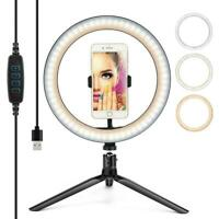 """10"""" LED Selfie Ring Light With Tripod Stand Phone Holder for  Makeup"""