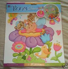 Girls Bedroom Wall Stickers ~ Nursery/Playroom ~ Flowers Fairies & Butterflies