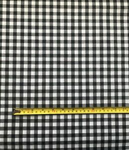 Yarn Dyed 100% Cotton Gingham Fabric 144cm Wide Black, Blue Shirts, Tops, Dress
