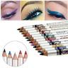 12pcs Color Eye Shadow Glitter Eyeliner Lip Liner Pencil Pen Cosmetic Makeup Set