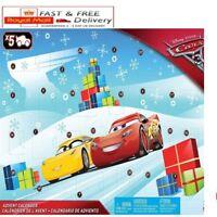 Disney Pixar Cars 3 Advent Calendar FVG14 Kids Xmas Calander Gifts Toys