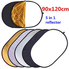 Pro 5in1 90x120cm Collapsible OVAL Photo Disc Light Reflector Photography Studio