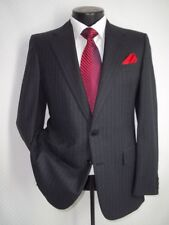Chester Barrie Gray Stripe 2 Button Side Vent Wool Suit Jacket 38 S