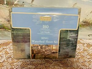 Jubilee King Waterbed Sheet Set Percale 180-Thread Count FLORENTINE New/Sealed