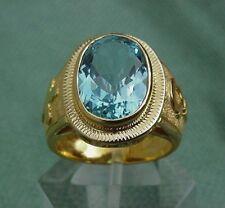 Bishop 18K Gold Blue Topaz Ring