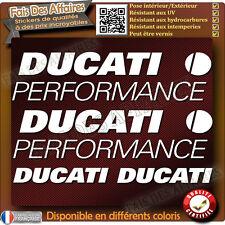 5 stickers autocollant ducati performance carénage réservoir moto casque