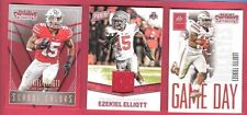 Ezekiel Elliott RC WORN JERSEY + 2 - 2016 ROOKIE CARDS DALLAS COWBOYS OHIO STATE