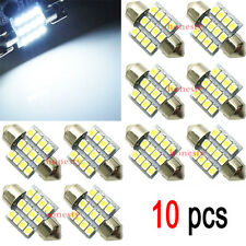2pcs White 31mm 12 LED SMD Festoon Dome Car Bulb 3021 3022 DE3175 Light Lamp