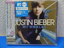 JUSTIN BIEBER My Worlds Deluxe Edition CD+DVD W/Obi NEW JAPAN F/S