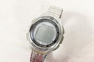 Vintage Casio Wave Ceptor Radio Controlled Digital Watch WV-50H For Parts Repair