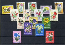 Rumania flores Valores del año 1961-70 (CW-281)