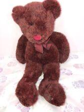 "EUC-17"" Russ Berrie Plush Bear ""Roxanne"" Marron and Black Blended Fur Item #4018"