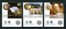 Israel 2017 MNH UNESCO World Heritage Sites Caves Necropolis 3v Set Stamps