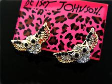 Betsey Johnson Charm jewelry fashion owl earrings banquet