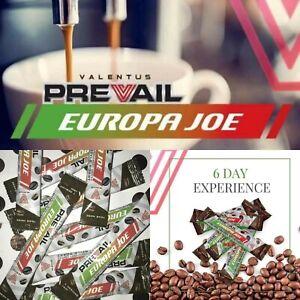 Original Valentus Prevail Europa Joe English Arabica Weightloss Coffee 6Sachet