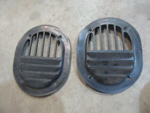 1982 Jeep J 10 truck interior kick panel fresh air vent trim cover pieces