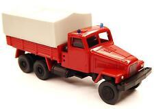 H0 IFA Lkw G 5 Feuerwehr Mannschaftstransporter Plane Blaulicht DDR 14101551