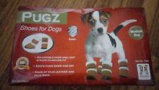 Hugs - Pugz dog shoes (tan/cream) Sz Medium (BNWT, Boxed)