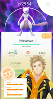 Pokemon Go Mewtwo -Trade - HIGH CP 2900+ - For Registered Only