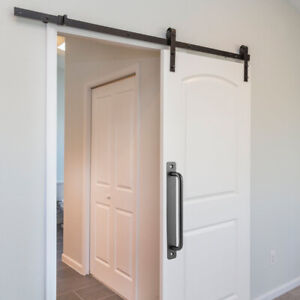192mm Sliding Barn Door Pull Flush Handle Gate Hardware Set Aluminum Alloy Black