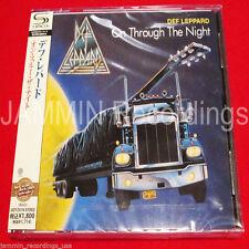 DEF LEPPARD - ON THROUGH THE NIGHT - JAPAN JEWEL CASE SHM CD - FACTORY SEALED