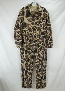 VTG Walls Blizzard Pruf Insulated Coveralls Made in USA Camo Brown Men's 38