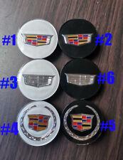 "4PCS 2.6"" 66 67mm All Black Tires Wheel Center Hub Caps For ATS CTS STS XLR XTS"