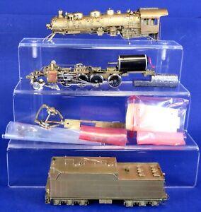 Sunset Models HO Brass Santa Fe 4000 Cl 2-8-2 Steam Engine & Tender / Needs Work