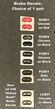 """BRAKE DECALS """"Kidney Beans"""" -Choose BRAND & Color, Dia-Compe/ Pro Class/ LEE CHI"""