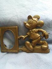 Walt Disney Productions Brass Mickey With Photo Frame Rare Htf