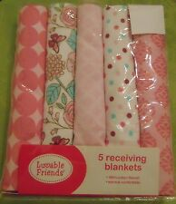 Pretty Lovable Friends Receiving Blankets Cotton Flannel