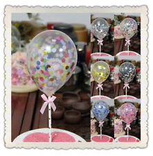 Confetti Latex Balloon Cake Topper Ribbon Dessert Birthday Baby Shower Decor UK