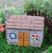Fairy Garden Fairy Gnome, Hobbit Barn - Cottage w/hinged double doors Nib