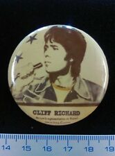 Pin Badge Button Vintage Rock CLIFF RICHARD EUROVISION 1973. Music. VERY SCARCE!