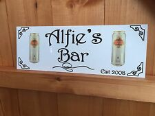 ALUMINIUM SIGN PERSONALISED PUB BAR SHED LARGE STELLA ARTOIS FATHERS DAY GIFT