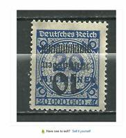 1923 German Hyper inflation Reversed Over Print Error Stamp #1